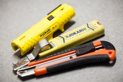 Verschiedene Abmantelungs Werkzeuge